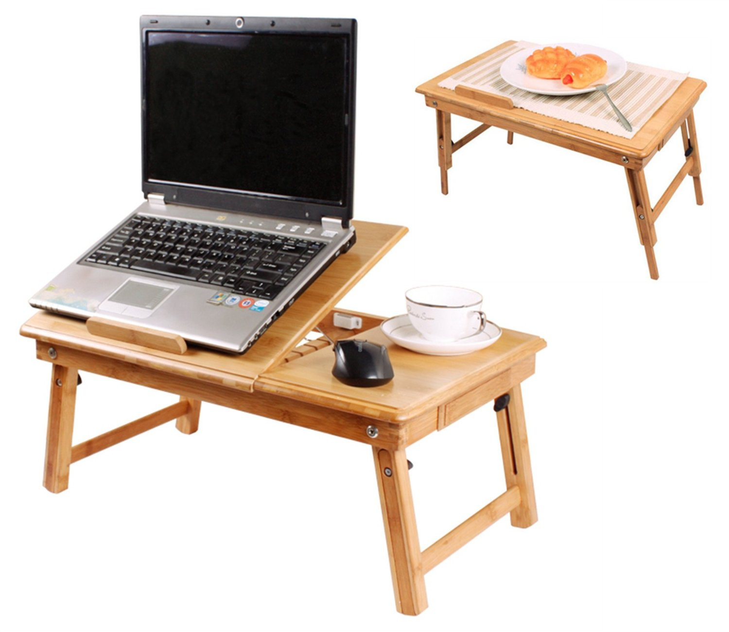 Table de lit pliable pour ordinateur portable avec ventilateur for Table de lit